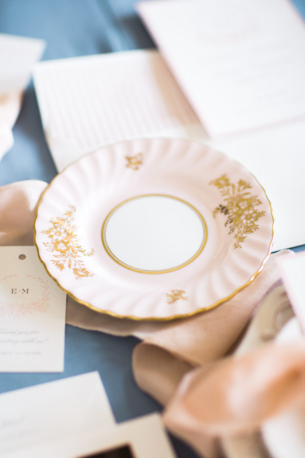 Vintage china from Tea and Old Roses at The Florentine in Birmingham, Alabama. You will not find more beautiful wedding rentals in Alabama.