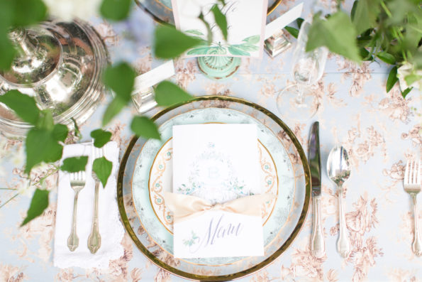 Classic southern wedding inspiration at the Hoover Randle Home in Birmingham, Alabama featuring Tea and Old Roses vintage china and glassware. You will not find more beautiful wedding rentals in Alabama.